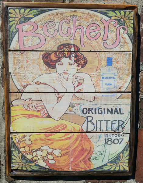 Nouveau beauty Vintage style Bechers sign