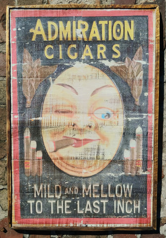 Moon man cigar sign