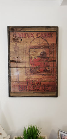 New Orleans French quarter wall art