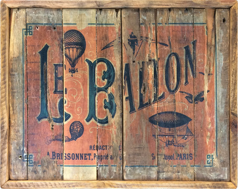 Hot Air Balloon vintage Paris sign