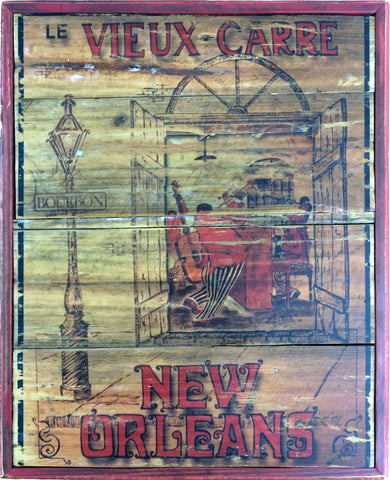 New Orleans French Quater Rustic Wall Art