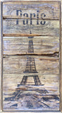 Paris Vintage Style Eiffel Tower Wall Art