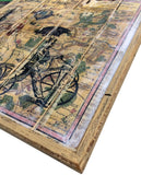 Map of France vinatge Style on reclaimed wood