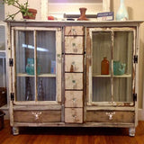Window cabinet with drawers