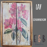 Floral Assorted Old Wood Wall Art