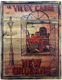 New Orleans French Quarter Artisan Wall Decor