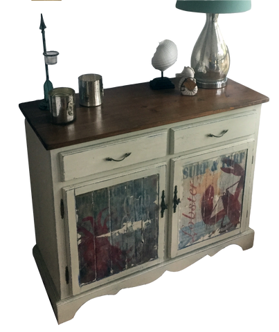 Beach Accent Cabinet / Chest - Lobster and Crab Furniture