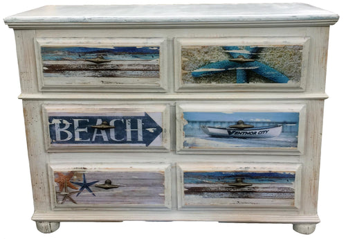 Beach Dresser White Chic Finish