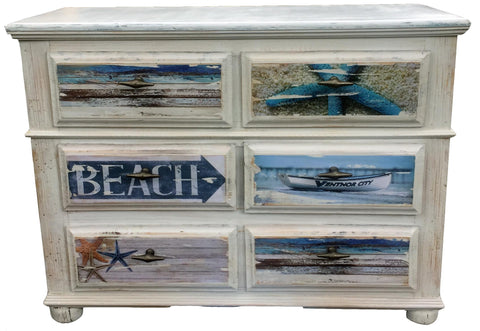 Young Beach Dresser White Chic Finish