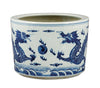 Blue and White Chinese Dragon Planter , Ceramic - OD, The Pink Pagoda  - 1