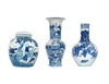 Blue and White Vases: Set of Three