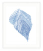 Framed Blue Leaf Print