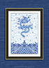 Chinese Imperial Dragon Robe in Blue and White , Art Print - TPP, The Pink Pagoda  - 3
