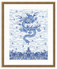 Framed Chinese Imperial Dragon Robe in Blue and White Georgetown / 8x10 (14x16.5),  - The Pink Pagoda, The Pink Pagoda  - 11