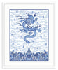 Framed Chinese Imperial Dragon Robe in Blue and White Irvine Slim (Blue Accent Mat) / 8x10 (14x16.5),  - The Pink Pagoda, The Pink Pagoda  - 2