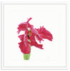 Framed Red Tulip Irvine Slim / 8x8 (14x14), Art Print - The Pink Pagoda, The Pink Pagoda  - 1