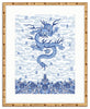 Framed Chinese Imperial Dragon Robe in Blue and White Mandalay / 8x10 (14x16.5),  - The Pink Pagoda, The Pink Pagoda  - 5