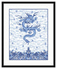 Framed Chinese Imperial Dragon Robe in Blue and White Mercer Slim (Blue Accent Mat) / 8x10 (14x16.5),  - The Pink Pagoda, The Pink Pagoda  - 4