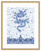 Framed Chinese Imperial Dragon Robe in Blue and White Olympia / 8x10 (14x16.5),  - The Pink Pagoda, The Pink Pagoda  - 7