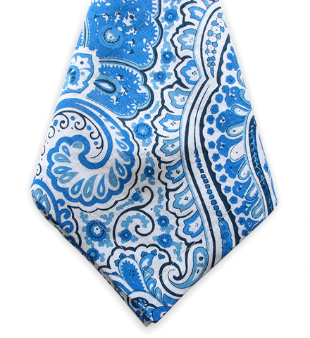 Blue and White Paisley Linen Napkins , Linen - NF, The Pink Pagoda