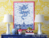 Chinese Imperial Dragon Robe in Blue and White , Art Print - TPP, The Pink Pagoda  - 2
