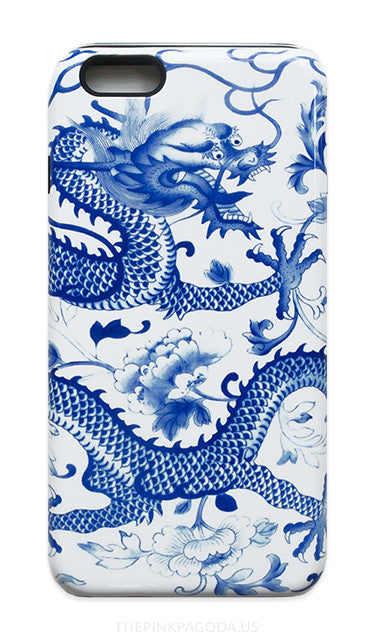 Blue And White Chinese Dragon Iphone Case The Pink Pagoda