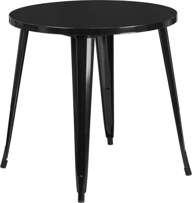 30'' Round Black Metal Indoor-outdoor Table