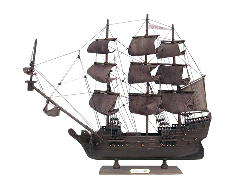 Wooden Flying Dutchman Model Pirate Ship 20 inch - My Parlor Room