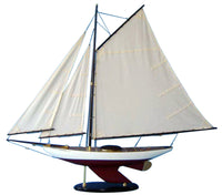 My Parlor Room - Wooden Bermuda Sloop Decoration 40 inch - My Parlor Room
