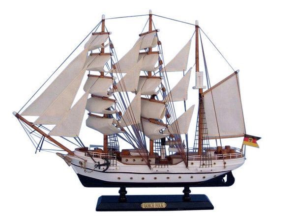 My Parlor Room - Wooden Gorch Fock Tall Model Ship 20 inch - My Parlor Room