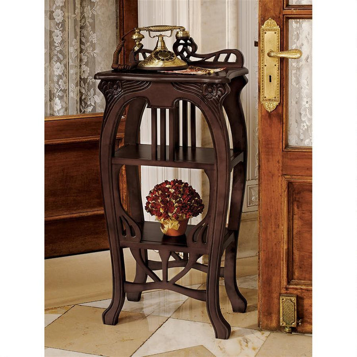 Art Nouveau Harp Side Table - My Parlor Room