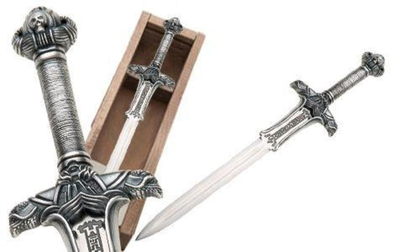 Swords from Spain - Conan the Barbarian Atlantean Sword Letter Opener by Marto of Toledo Spain (Silver) - Official Licensed Reproduction - My Parlor Room
