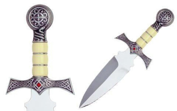 Swords from Spain - Claymore Highlander Dagger Silver by Marto of Toledo Spain - My Parlor Room
