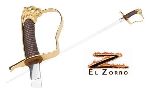 Swords from Spain - Zorro Elena Saber Sword by Marto of Toledo Spain - My Parlor Room