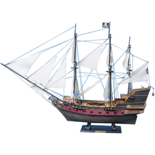 Handcrafted Nautical Decor - Captain Kidd's Adventure Galley Limited Model Pirate Ship 36 inch White Sails - My Parlor Room
