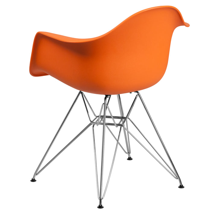 ALONZA SERIES ORANGE CHAIR WITH CHROME BASE - My Parlor Room