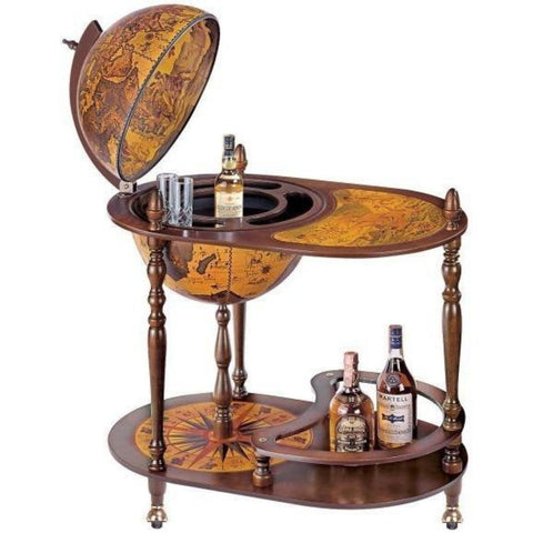 "Bar Globes - Zoffoli ""Fenice"" Trolley Bar Globe With Serving Tray"