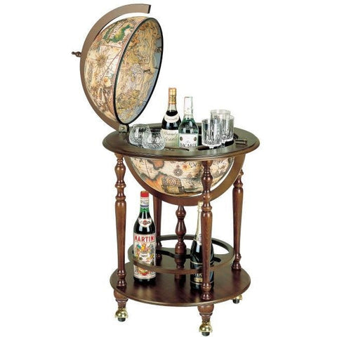 "Bar Globes - Zoffoli ""Incanto"" Bar Globe On Four Casters With Lower Shelf"