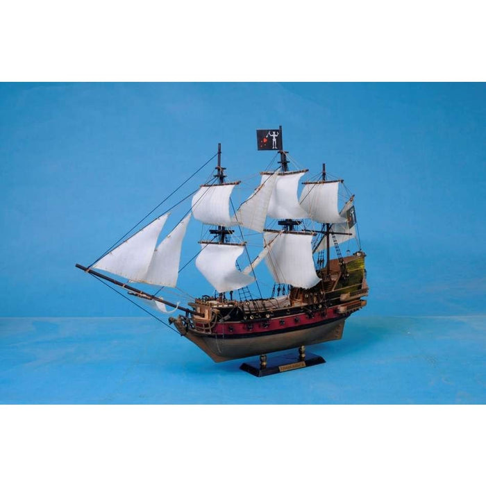 Handcrafted Nautical Décor - Blackbeard's Queen Anne's Revenge Model Pirate Ship 24 inch White Sails - My Parlor Room