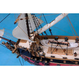 My Parlor Room - Blackbeard's Queen Anne's Revenge Model Pirate Ship 24 inch White Sails - My Parlor Room