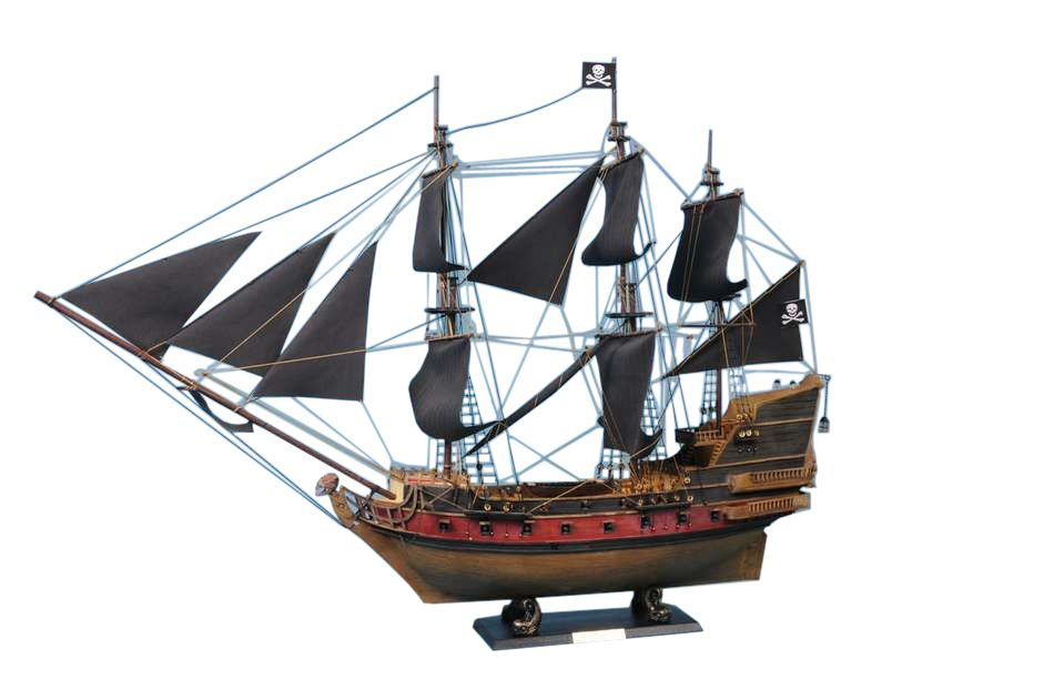 Captain Kidd's Black Falcon Limited Model Pirate Ship 24 inch Black Sails - My Parlor Room