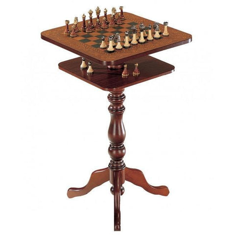 Chess Table - Zoffoli Vintage Wooden Chess Table Squared