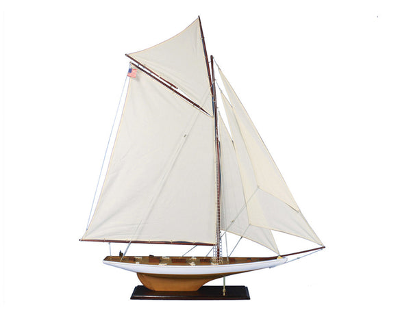 My Parlor Room - Wooden Columbia Model Sailboat Decoration 60 inch - My Parlor Room