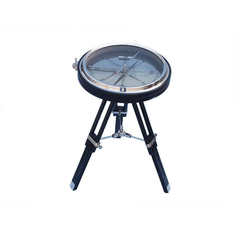 Compass - Decorative Chrome With Black Stand Compass Table 23 Inches