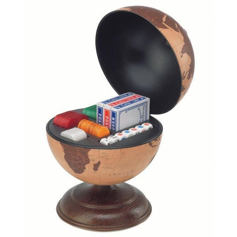 Desk Globe - Zoffoli Small Desk Globe With Dice And Cards