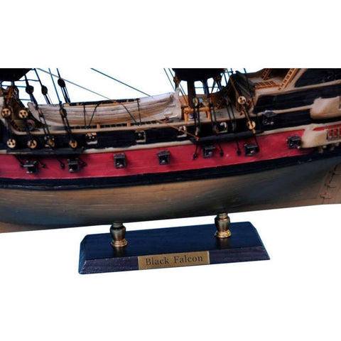 Model Ships - Captain Kidd's Black Falcon Limited Model Pirate Ship 24 Inch Black Sails