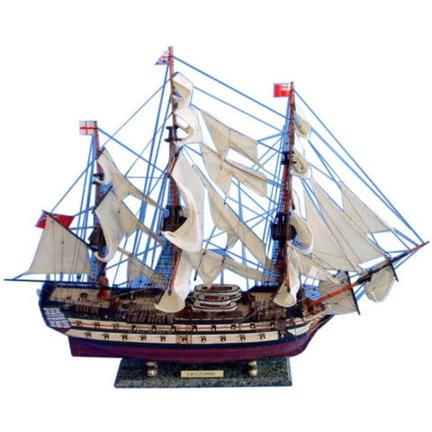 Model Ships - HMS Leopard Tall Model Ship 36 Inch