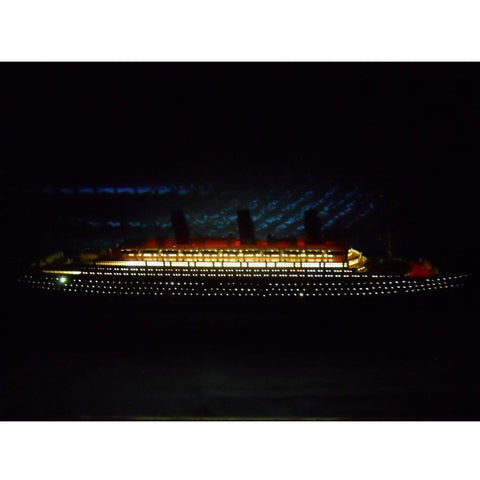 Model Ships - RMS Britannic Limited 50 Inch W/ LED Lights Model Cruise Ship