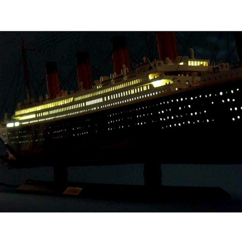 Model Ships - RMS Britannic Limited Model Cruise Ship 40 Inch W/ LED Lights