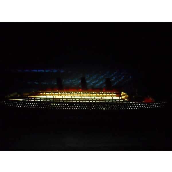 My Parlor Room - RMS Lusitania Limited 50 inch w/ LED Lights Model Cruise Ship - My Parlor Room